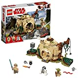 LEGO 75208 Star Wars Yoda's Hut Building Set, Yoda and R2-D2 Figure Minifigures, Jedi Training Playset for Kids