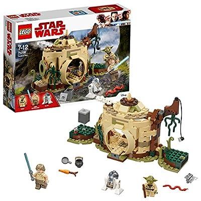 LEGO 75208 Star Wars Yoda's Hut Building Set, Yoda and R2-D2 Figure Minifigures, Jedi Training Playset for Kids