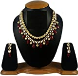 #4: Necklace set first Quality Kundan & Diamond Stone Gold Plated Color Necklace set with matching earring all type wearing like,party office wedding
