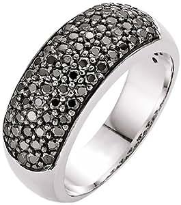 Spirit - New York Damen-Ring Silber rhodiniert Zirkonia schwarz Gr.58 (18.5) 93003093580