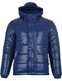 Mens Warm Padded Jacket Bellfield Xenon Puffer Winter Hooded Quilted Zip Up Coat