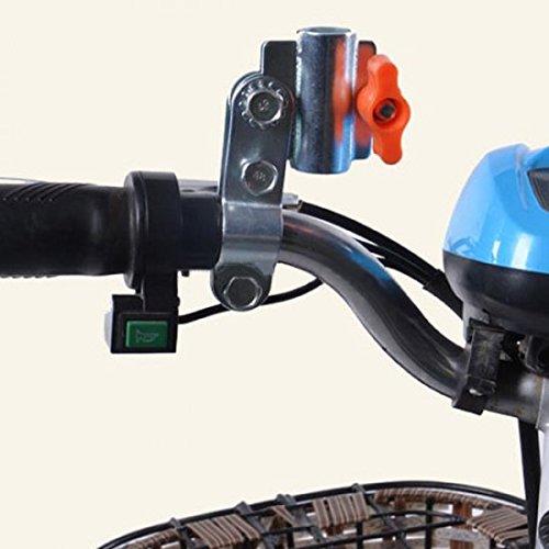 SYSTEM-S Schirmhalter Halterung Regenschirm-Halterung Schirmhalterung Regenschirmhalter für Fahrrad Kinderwagen Rollator Rollstuhl Golftrolleys