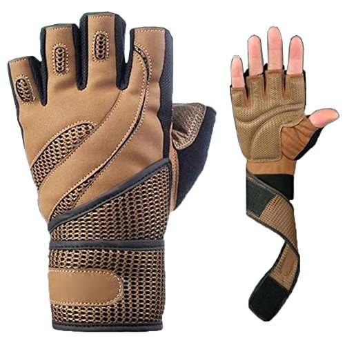 Übung Wraps (Hanbaili Weight Lifting Gym Training Sport Fitness Handschuhe Shockproof Anti Rutsch Breathable Haltbarkeit Übung Zubehör Mit Handgelenk Wrap)