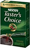 1 X Taster's Choice Decaffeinated - Gourmet Instant Coffee, 6 pk,(Nescafe)