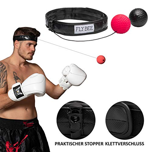 Preisvergleich Produktbild Boxen Training Reflex Fightball Punchball Headgear + 2 Bälle (2 Balls Included)