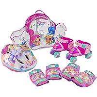 Shimmer And Shine Set con mochila, mini roller, casco y protecciones (Saica 2680)