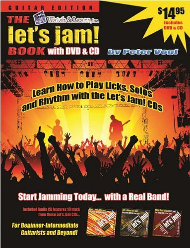 the-lets-jam-book-guitar-with-cd-audio-and-dvd-watch-learn-lets-jam-by-peter-vogl-2009-01-31