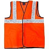 TheCoolio Safe Dot Reflector / Safety Jackets (Plain Orange) - Regular Pattern