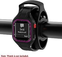 su-luoyu Fahrrad Watch Halterung Fahrrad Uhr Halter Fahrrad Smart Watch Silikon Halterung, Outdoor Sport Fahrrad Zubehör, mit 4 Riemen, Mode Schwarz Fahrradhalterung