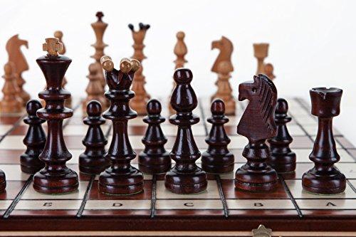 Wooden Magic Olympic - große 40cm/10,8 in Handarbeit aus Holz Schach Set Kirschbaum