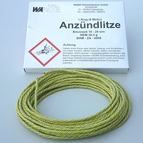 Preisvergleich Produktbild Anzündlitze gelb (langsam) Standard !! Lieferumfang enthält KEIN FEUERZEUG !!