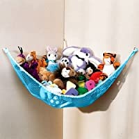 Huijukon Toy Hammocks, Corner Toy Hammock Cuddly Toy Storage Hammock Net Organiser for Cuddly Toys, Stuffed Animals, Teddies