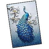 Sharplace Diamond Painting DIY 5D Diamant Malerei Pfau Strass Bilder Kunst Handwerk für Dekoration