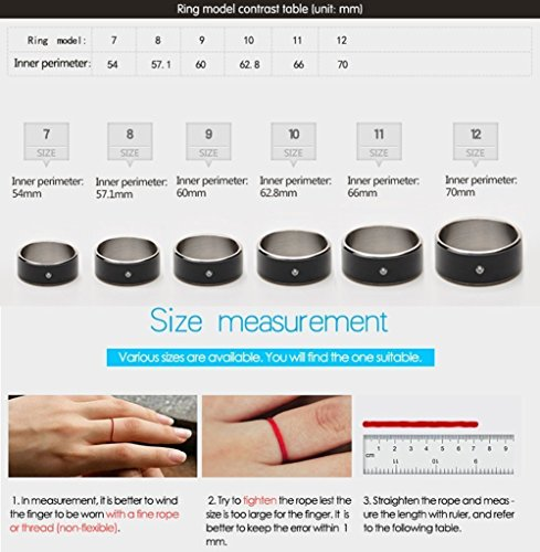 R3 Smart Ring,Netronic Newest Magic Smart Ring,Titanium NFC Ring Universal For All Android Windows iOS NFC Cellphone Mobile Phones-Size11