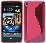 ENERGMiX HTC Desire 816 Silikon Hülle Tasche Case Zubehör in Pink