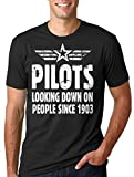 Milky Way Tshirts Piloto de la Camiseta de los Hombres Fresca piloto del Vuelo Camiseta Large Negro