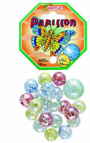 Unbekannt Kim \'Play Papillon (\'Schmetterling\') 500810Marmor Set 20kleine und 1große [Französische Sprache]