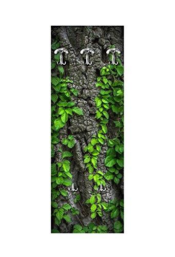 Appendiabiti da parete 49x139 cm bark with leaves