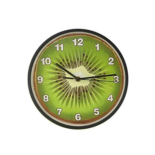 Hu hao uk orologio da parete per bambini colorato silenzioso e senza ticchettio orologio da parete a pile per bambini studenti bambini facili da leggere 10 pollici (colore : verde)