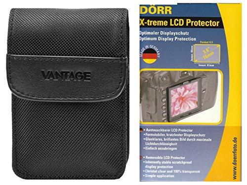 Foto Kamera Tasche DCN Vantage Set mit LCD Schutzfolie für Canon Ixus 220 285 275 265 255 185 180 Sony WX350 WX220 und andere