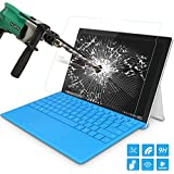 Surface Pro 4 Screen Protector, MoKo [Scratch Terminator] Premium HD Clear 9H Hardness Tempered Glass Screen Protector Film with Oleophobic Coating for Microsoft Surface Pro 4 12.3 inch 2015 Tablet