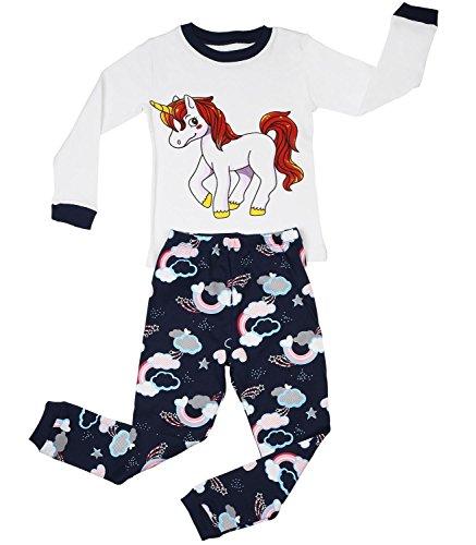 Elowel-Filles-Licorne-pyjama-100-coton-taille-6-M-5-Annees