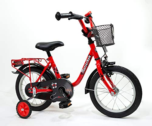 Bachtenkirch Kinder Fahrrad Mariechen Kinderfahrrad, rot/Schwarz, 14 Zoll