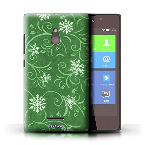 Kobalt® Imprimé Etui / Coque pour Nokia XL / Turquoise conception / Série Motif flocon de neige Vert
