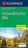 Schwäbische Alb: Wanderkarten-Set mit Radrouten. GPS-genau. 1:50000 (KOMPASS-Wanderkarten, Band 767)
