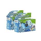 Fujifilm Disposable QuickSnap Waterproof Pool Underwater 35mm Camera Pack of 2