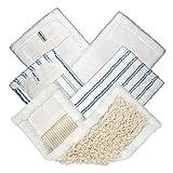 Microfaser Wischbezüge im 3er Universal-Set Bürste, Staub und Flausch, Größe: 11x40 cm, für Haushalt, Küche, Bad und vieles mehr