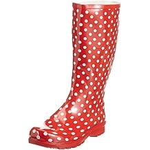 Playshoes Gummistiefel Punkte aus Naturkautschuk 190100, Damen Gummistiefel, Rot (rot 8), EU 38
