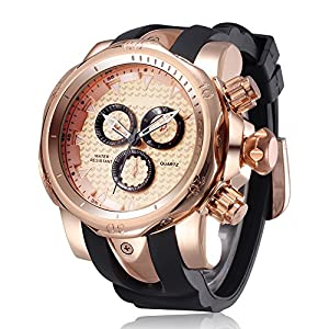 Big Face And Heavy Watches For Men With Rose Gold Dial Watch