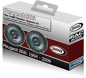 Peugeot 806 Mac Audio-Haut-Parleurs DE PORTIERE AVANT de 16,5 cm, 17 cm de haut-Parleur de voiture 200 W