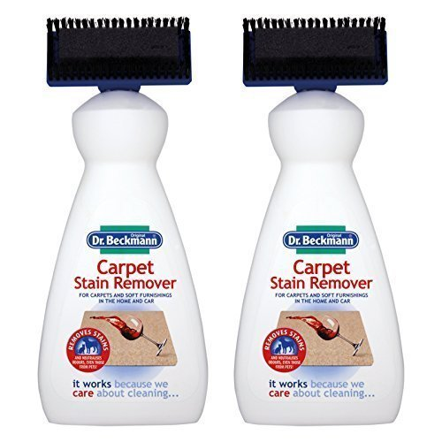 Dr Beckmann 2 X Carpet Stain Remover with Cleaning applicator/brush-650ml, 650ml
