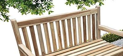 Teak Gartenbank 2 Sitzer Java 120 cm, Lager, geschliffene Oberfläche, naturbelassen, Handarbeit, widerstandsfähig, kombinierbar, Lieferung mit Paketdienst, ohne telefonische Avisierung von 4251068922346 auf Gartenmöbel von Du und Dein Garten