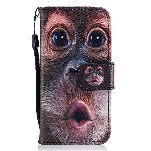 Funda iPhone 5,Funda iPhone SE,Ecoway Pintado Cuero de la PU Leather Cubierta,...