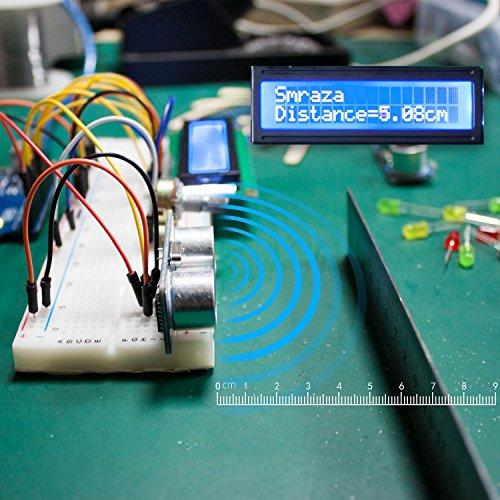 5141bNlA5ZL - Smraza Starter Kit para Arduino UNO R3 con Guías Tutorial, Placa UNO R3, Servomotor, Modulo de Fuente de Alimentación y LCD1602 para Conjunto de Arduino Mega 2560 NANO