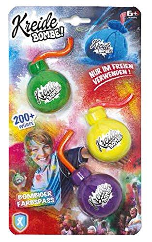 Preisvergleich Produktbild XTrem Kreide Bombe! 3er Pack für 200+ Würfe - Farbe vorsortiert