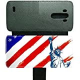Generic For Optimus G3 For Boys Personalised Printing American Flag 1 Support Card Hold