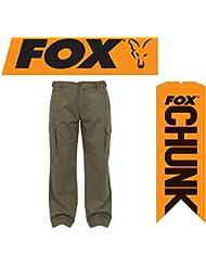 Fox decorativo de twill cargo pants pantalones de Angel pantalones de colour caqui, color , tamaño large