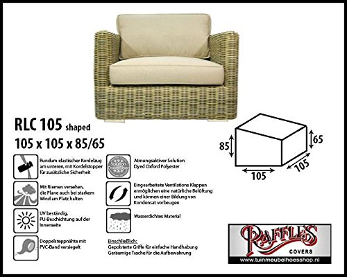 Raffles Covers RLC105shaped Schutzhülle für Lounge Sessel, Lounge Chair Order Lounge Stuhl, Passt...
