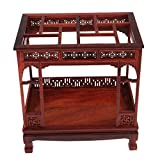 Miss and Mams 1/12 Doll House Miniature Furniture Decor Wooden Canopy Bed W