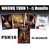 Wrong Turn 1-5 Bundle, Set, 1,2,3,4,5 - Alle Teile FSK18