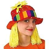 Clara sombrero de payaso con el pelo