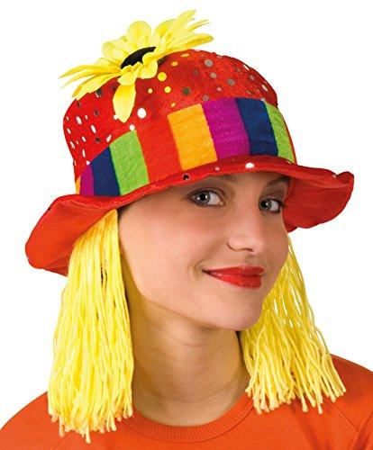 Boland 01213 - Erwachsenenhut Clara, Einheitsgröße, Mehrfarbig (Halloween Make-up Clown Süßes)