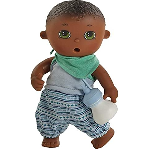 Paola Reina Los Bebes Go Potty Fedor 8.6 Drink & Wet Boy Doll (Made in Spain) by Paola Reina