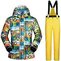 Jiuyizhe Chaqueta y Pantalones de esquí de Invierno, Traje de Nieve para Deportes al Aire Libre, Conjunto de Chaqueta Impermeable y a Prueba de Viento (Color : 05, Size : XXXL)