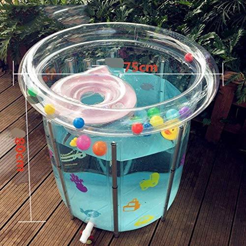 Bañera, maravillosas piscinas infantil Baños inflable del bebé antideslizante Ducha cuenca plegable y portátil Mini aéreos de piscina con el amortiguador suave alee stent, XX-Large Bañeras