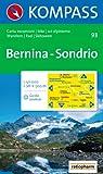 Carta escursionistica n. 93. Laghi settentrionali. Bernina, Sondrio 1:50000
